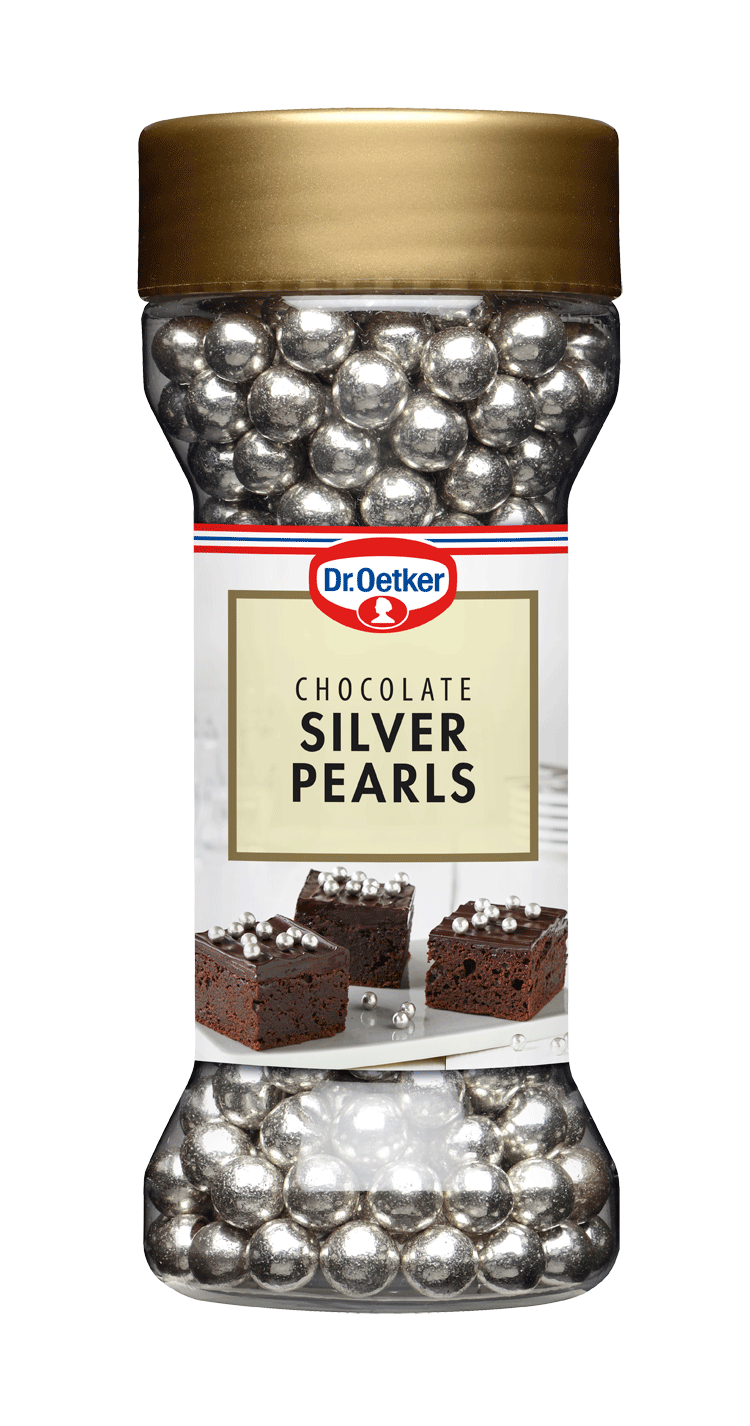 Image of   Chocolate silver pearls 52 g. - Dr. Oetker
