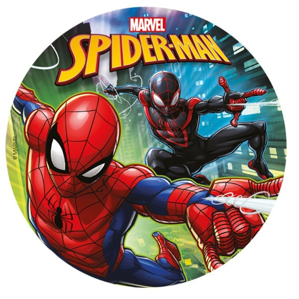 Sukkerprint Spiderman – ø 20 cm.