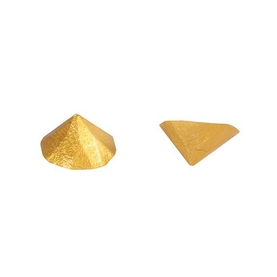 Image of   Guld metallisk ældelsten - 20 stk