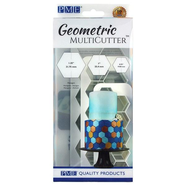 PME geometric multicutter - Hexagon - sæt med 3