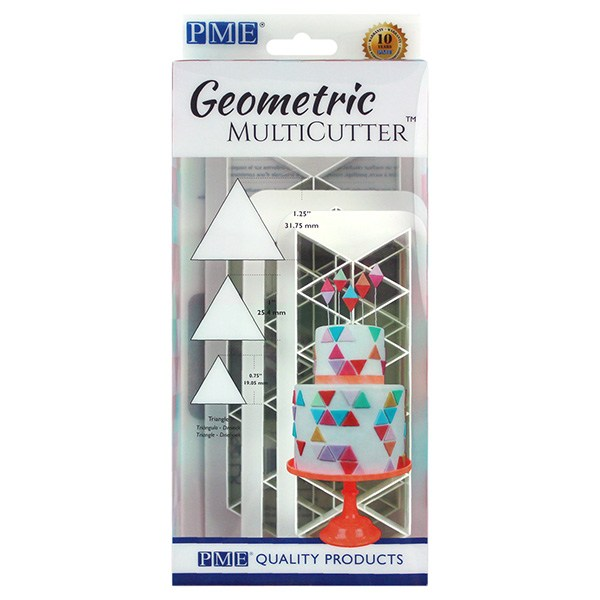 PME Geometric Multicutter - Equilateral Triangle - sæt med 3