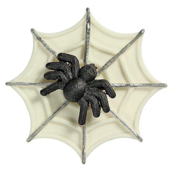 Image of 2D form, edderkop og spindelvæv