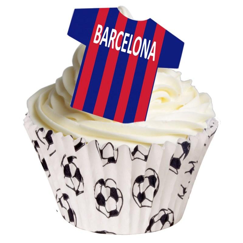 Image of   Barcelona trøjer i spiselig papir 12 stk