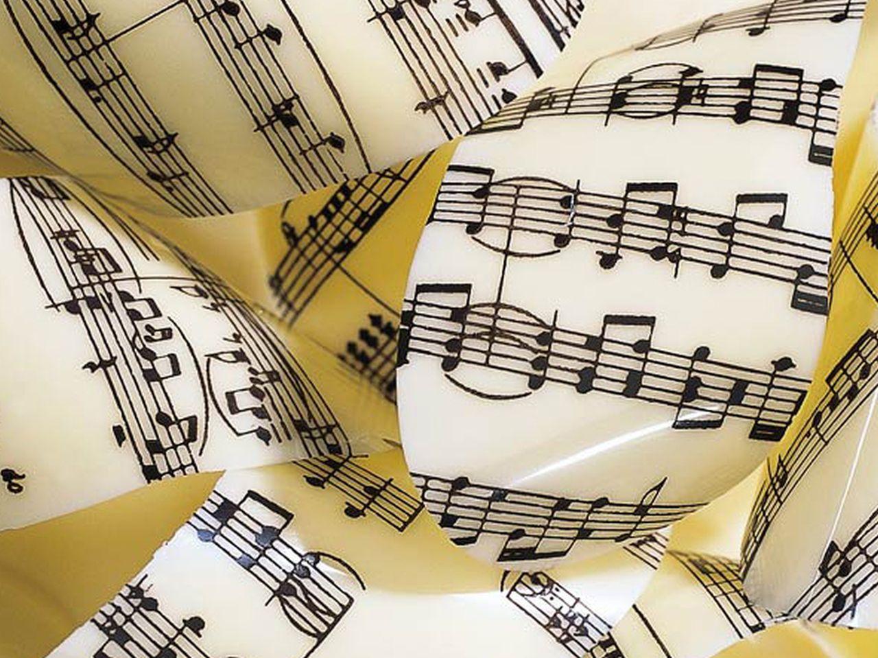 Image of   Chokolade transfer musikalske noter