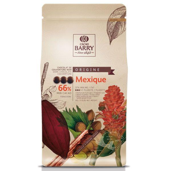 Image of   Chokolade callets - Mexique mørk 66% - 1 kg