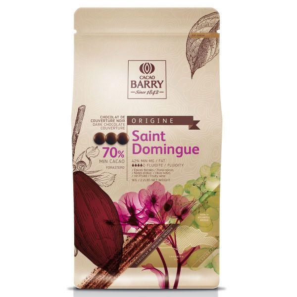 Image of   Chokolade callets - Saint Domingue mørk 70% - 1 kg