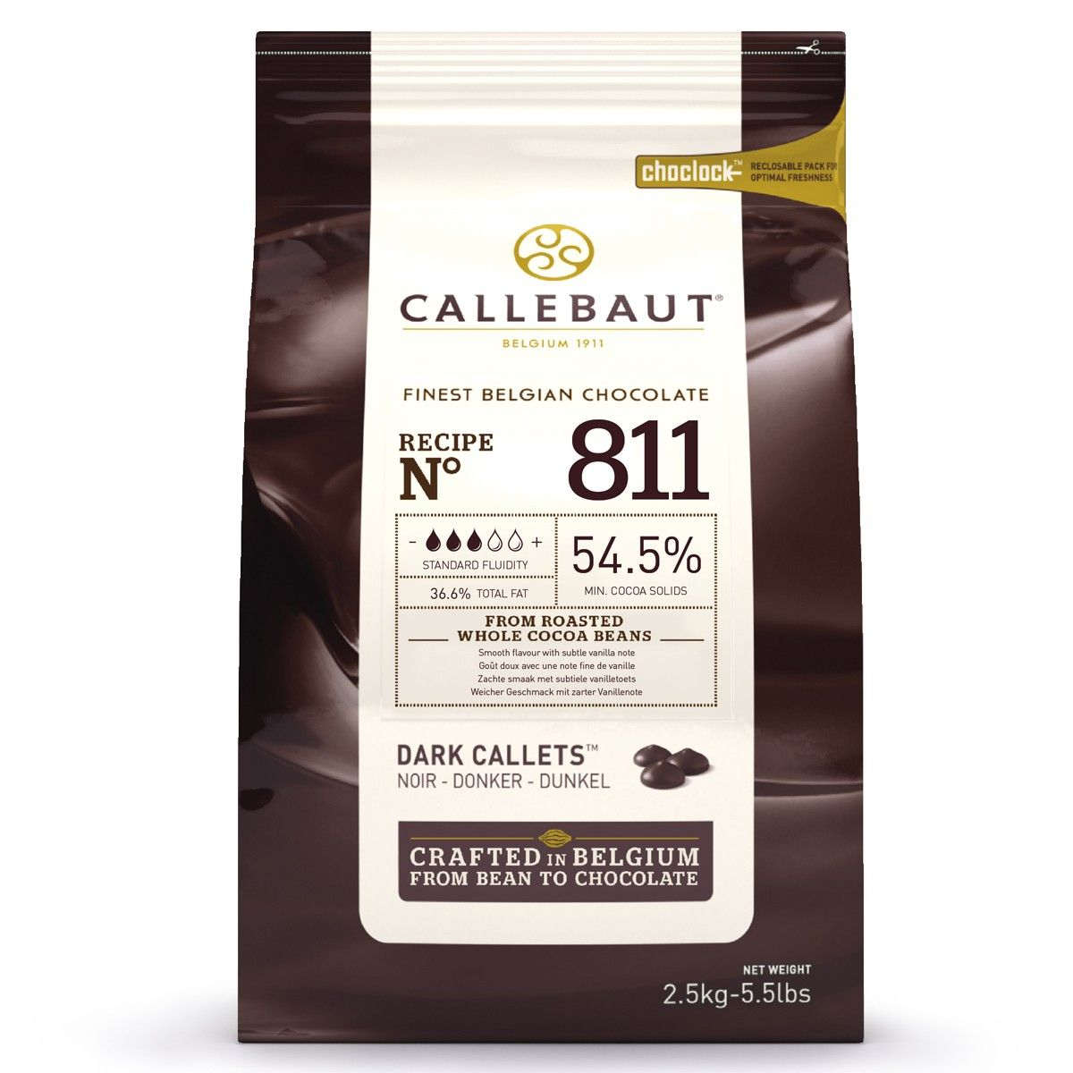 Image of   Callebaut chokolade Callets mørk 54,5%, 2,5 kg