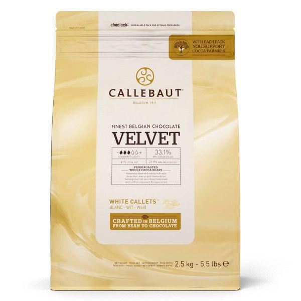Image of   Callebaut chokolade Callets 2,5 kg Velvet 33,1%