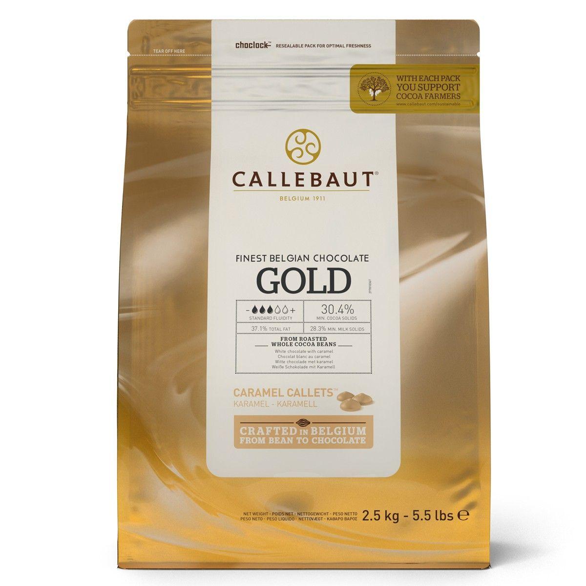Image of   Callebaut chokolade Callets Gold 30,4%, 2,5 kg