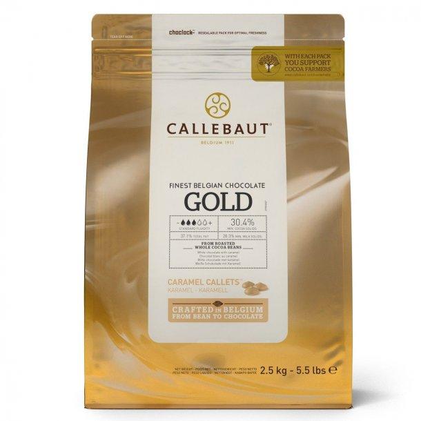 Callebaut chokolade Callets Gold 30,4%, 2,5 kg