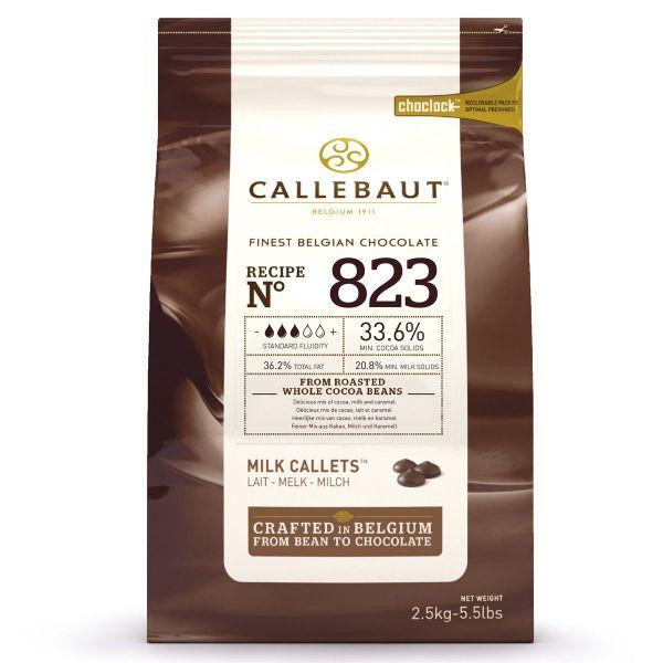 Image of   Callebaut chokolade Callets lys 36,6 %, 2,5 kg