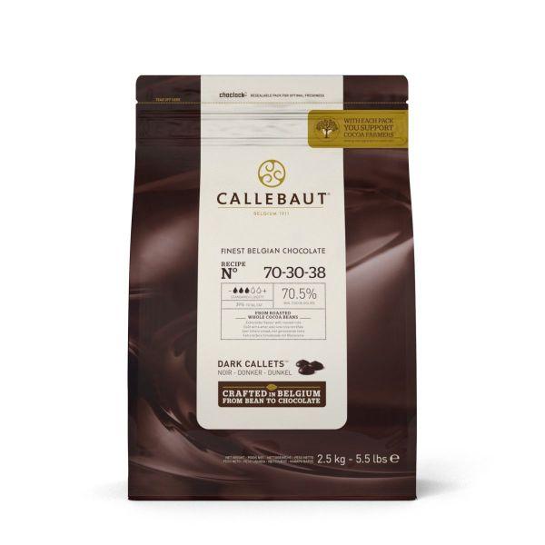 Image of   Callebaut ekstra mørk chokolade callets 70,5% - 2,5 kg
