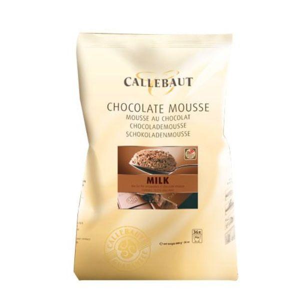 Image of   Callebaut chokolademousse pulver, lys - 800 gram