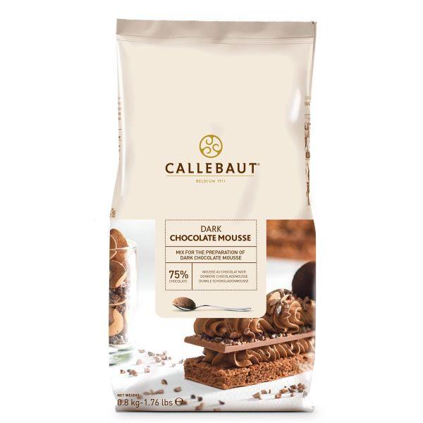 Image of   Callebaut chokolademousse pulver, mørk - 800 gram