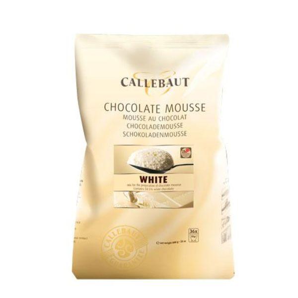 Image of   Callebaut chokolademousse pulver, hvid - 800 gram