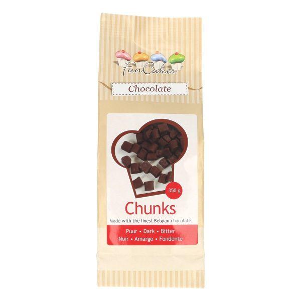 Image of   Chokoladefirkanter mørke - 350 g