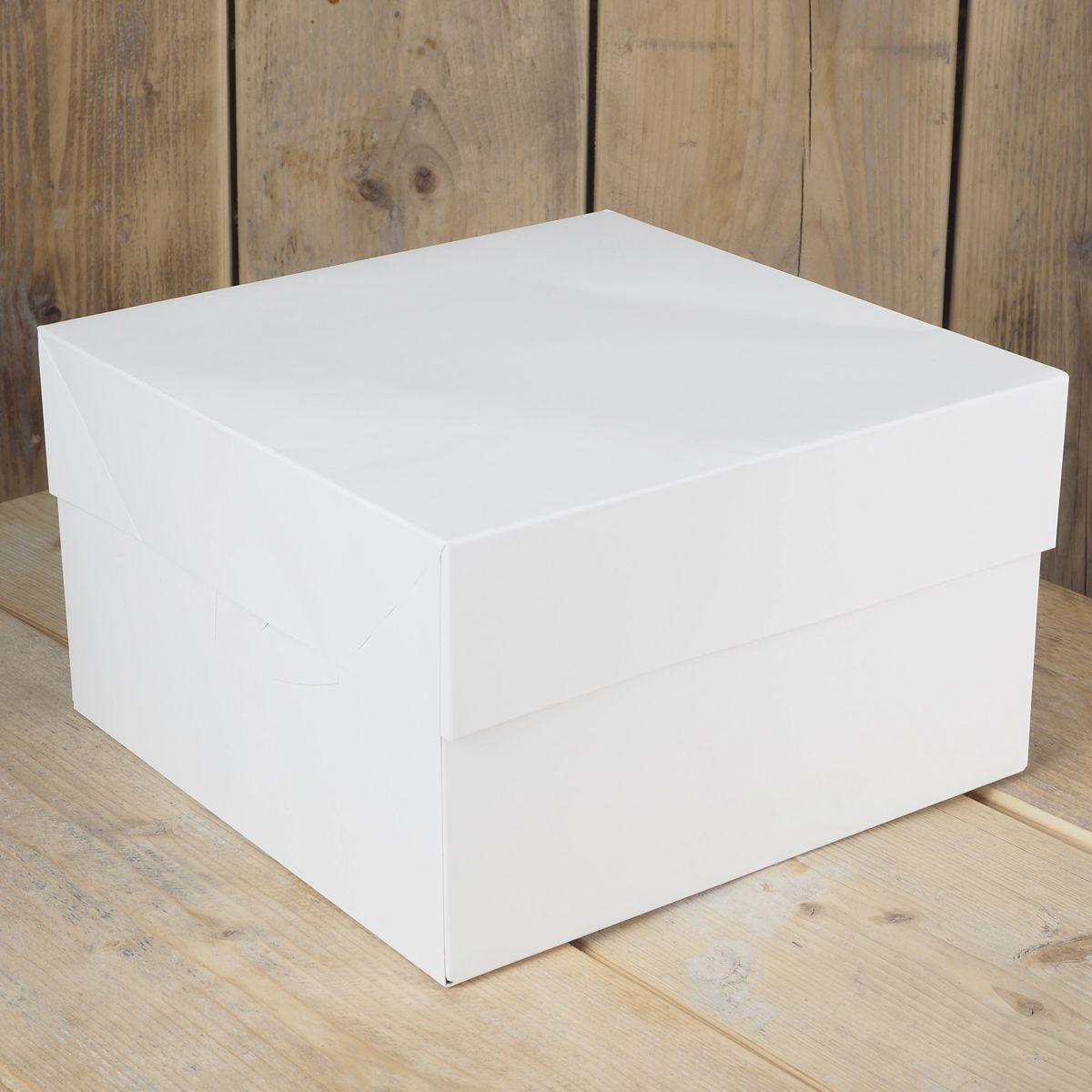Image of   Funcakes hvid kageboks - 35 x 35 x 15 cm
