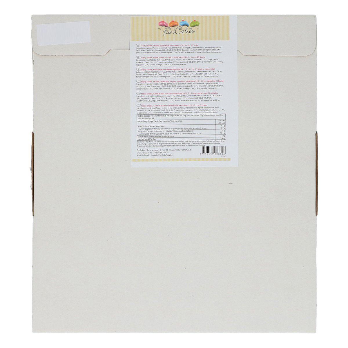 Image of   Funcakes sukker printerpapir A4/25 stk