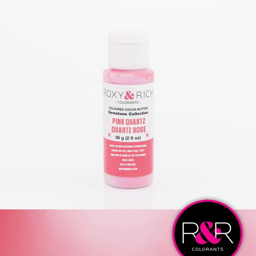 Billede af Farvet kakaosmør, Pink Quartz 56 g - Roxy & Rich Gemstone Collection