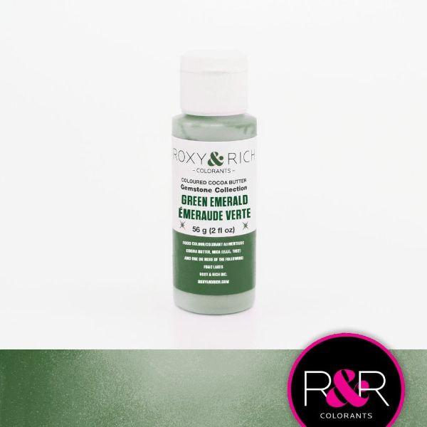 Billede af Farvet kakaosmør, Green Emerald 56 g - Roxy & Rich Gemstone Collection