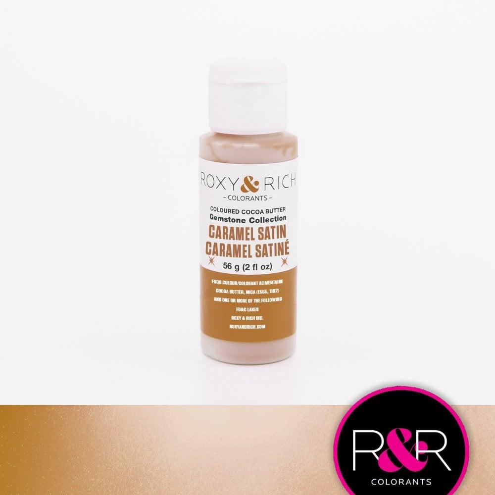 Billede af Farvet kakaosmør, Caramel satin 56 g - Roxy & Rich Gemstone Collection
