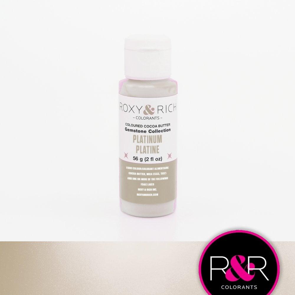 Billede af Farvet kakaosmør, Platinum 56 g - Roxy & Rich Gemstone Collection