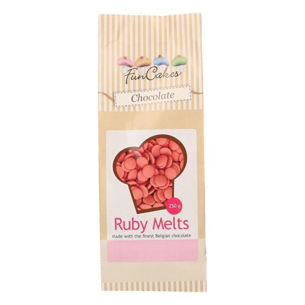 Image of   Chocolate Melts Ruby - 250 gram