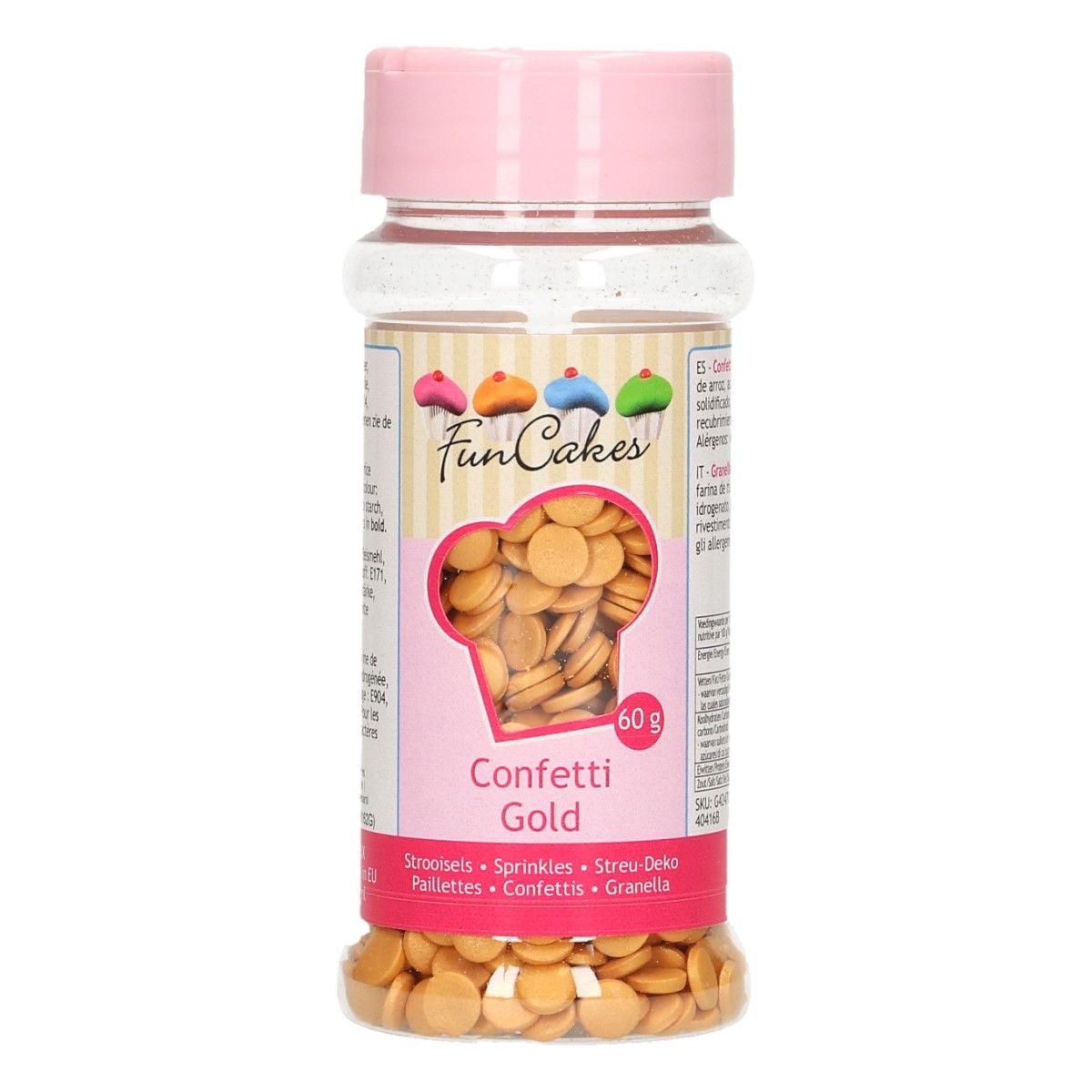 Image of   Funcakes konfetti gold, 60 gr