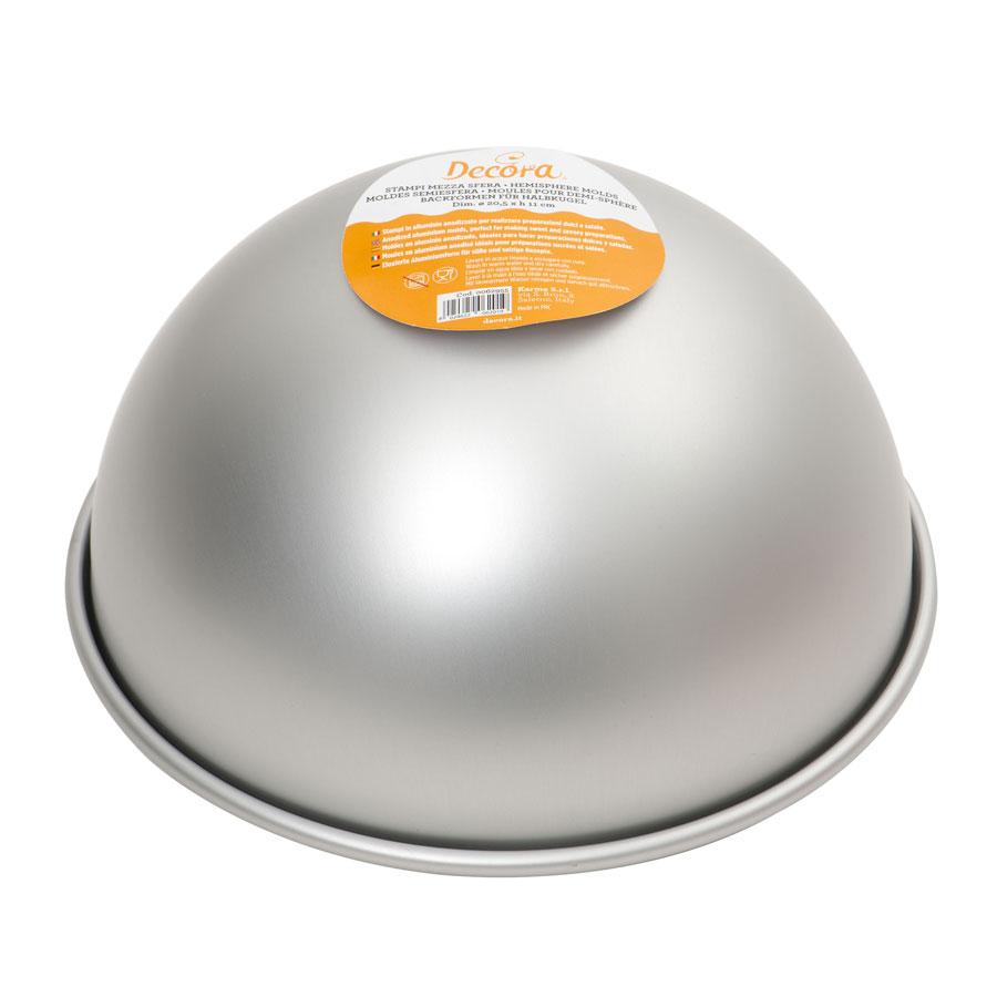 Image of   Professionel aluminium halvkugle ø 15 x H 7,5 cm