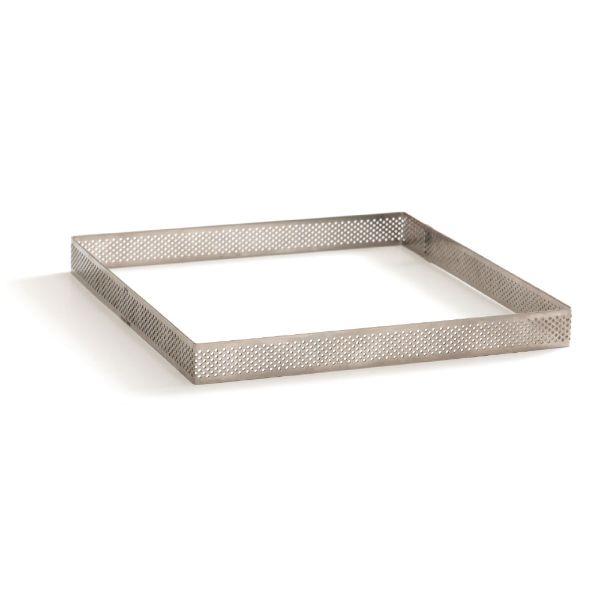 Image of   Professionel perforeret kvadrat tærteform 10x10x3,5 h cm