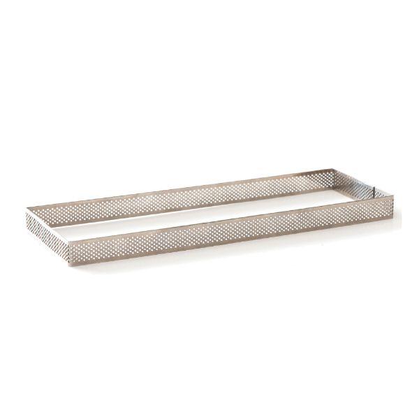 Image of   Professionel perforeret rektangulær tærteform 10x29x3,5 cm