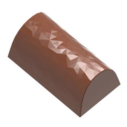 Image of   Professionel chokoladeform i hård plast, buche facet