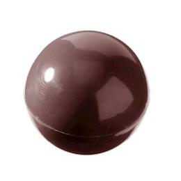 Image of   Professionel chokoladeform i hård plast, halv sfære ø25 mm