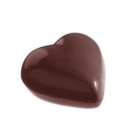 Image of   Professionel chokolade form i hård plast, rund hjerte