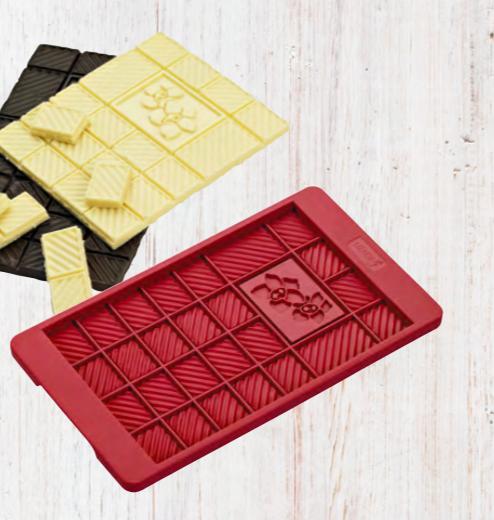 Chokoladebar silikoneform.