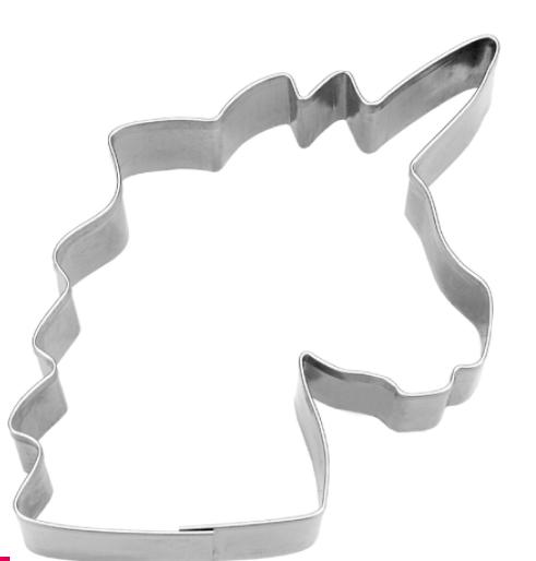 Enhjørning hoved metal udstikker