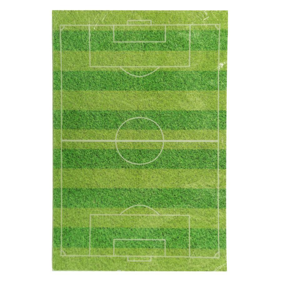 Sukkerprint vaffelpapir fodboldbane – 20 x 30 cm.