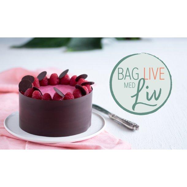 Vegansk lagkage med hindbær og chokolade | Bag live Med Liv Martine