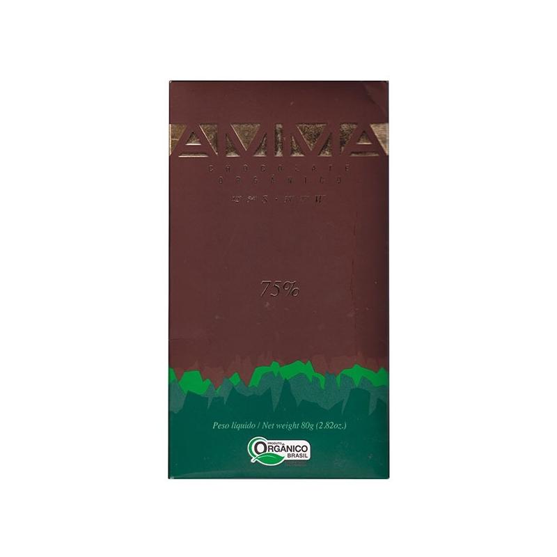 Image of   AMMA økologisk chokolade - 75% kakao, 80 gram