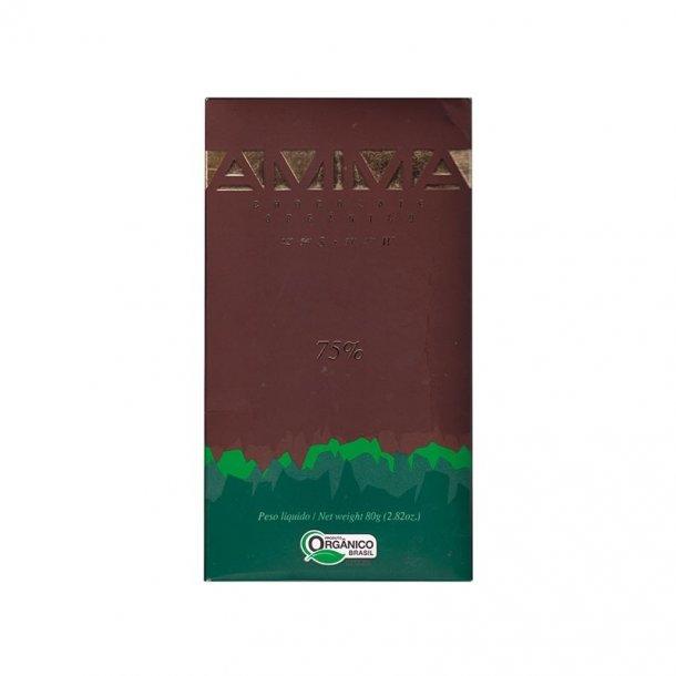 AMMA økologisk chokolade - 75% kakao, 80 gram