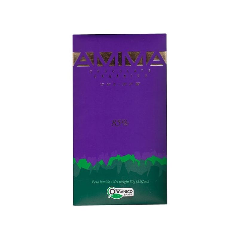 Image of   AMMA økologisk chokolade - 85% kakao, 80 gram