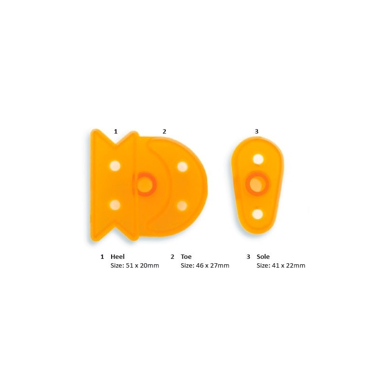 Image of   Babysko udstikker - medium størrelse (3 dele)