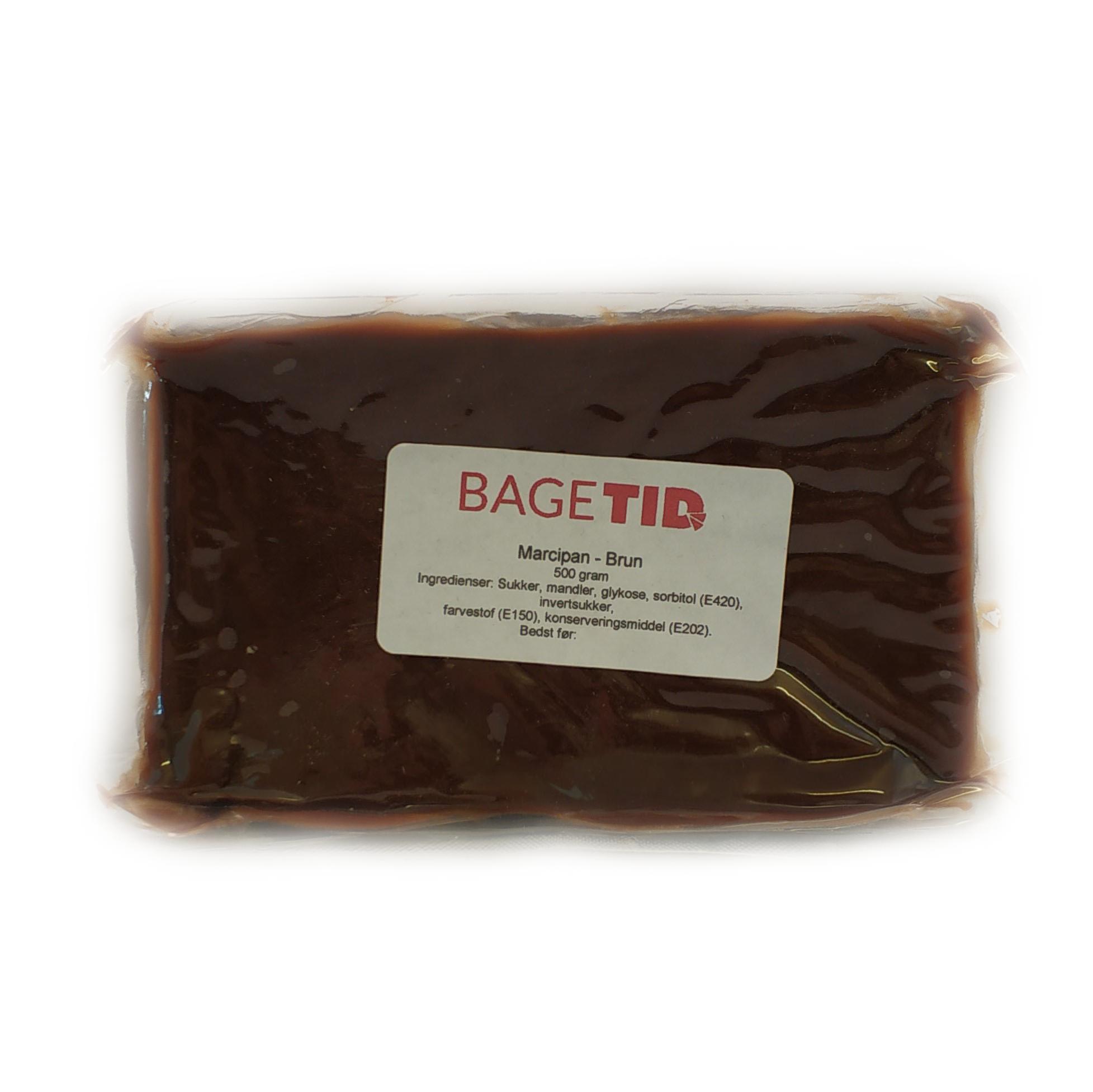 Image of   Bagetid marcipan brun 500 gr