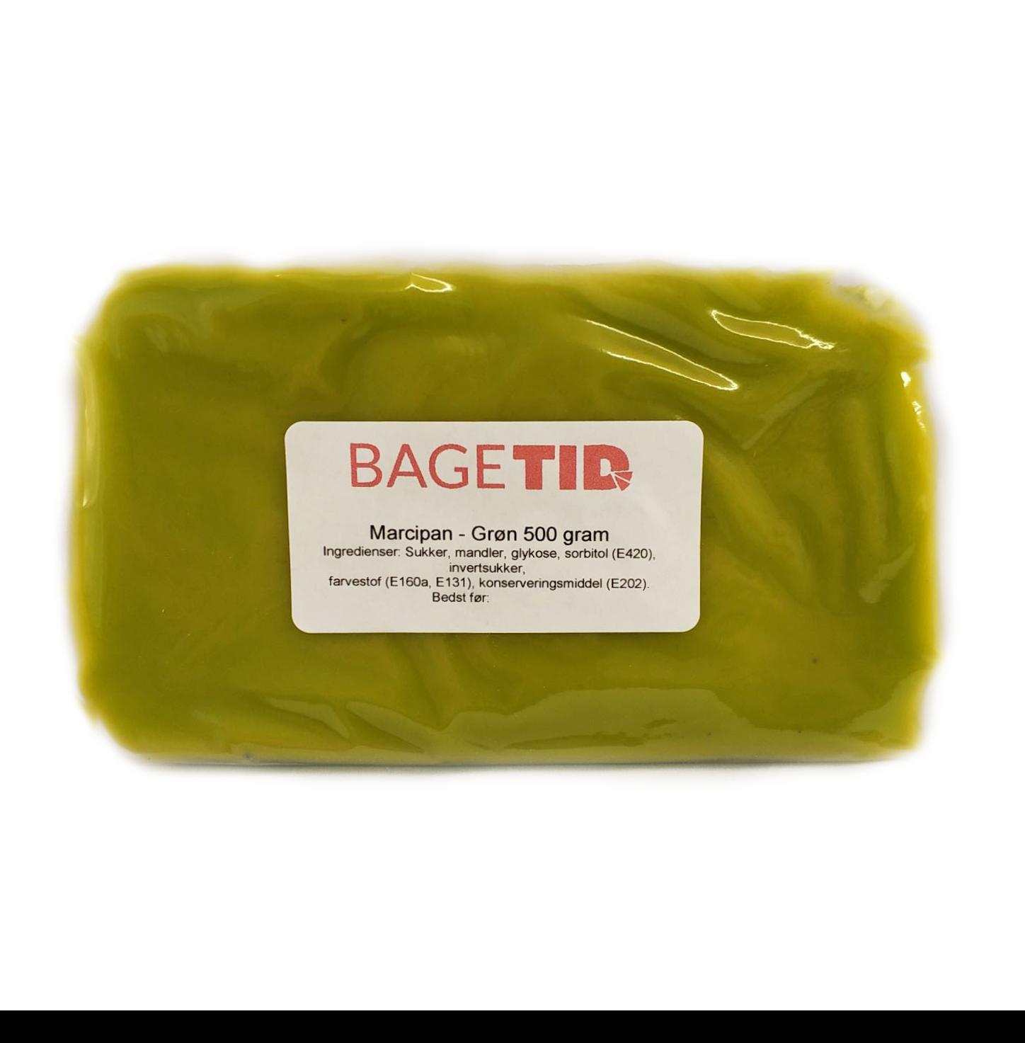 Image of   Bagetid marcipan lysegrøn 500 g.