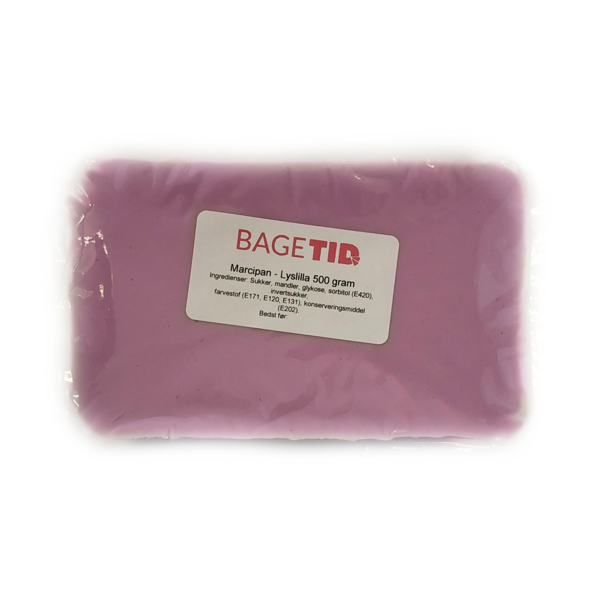 Image of   Bagetid marcipan lyslilla 500 g.