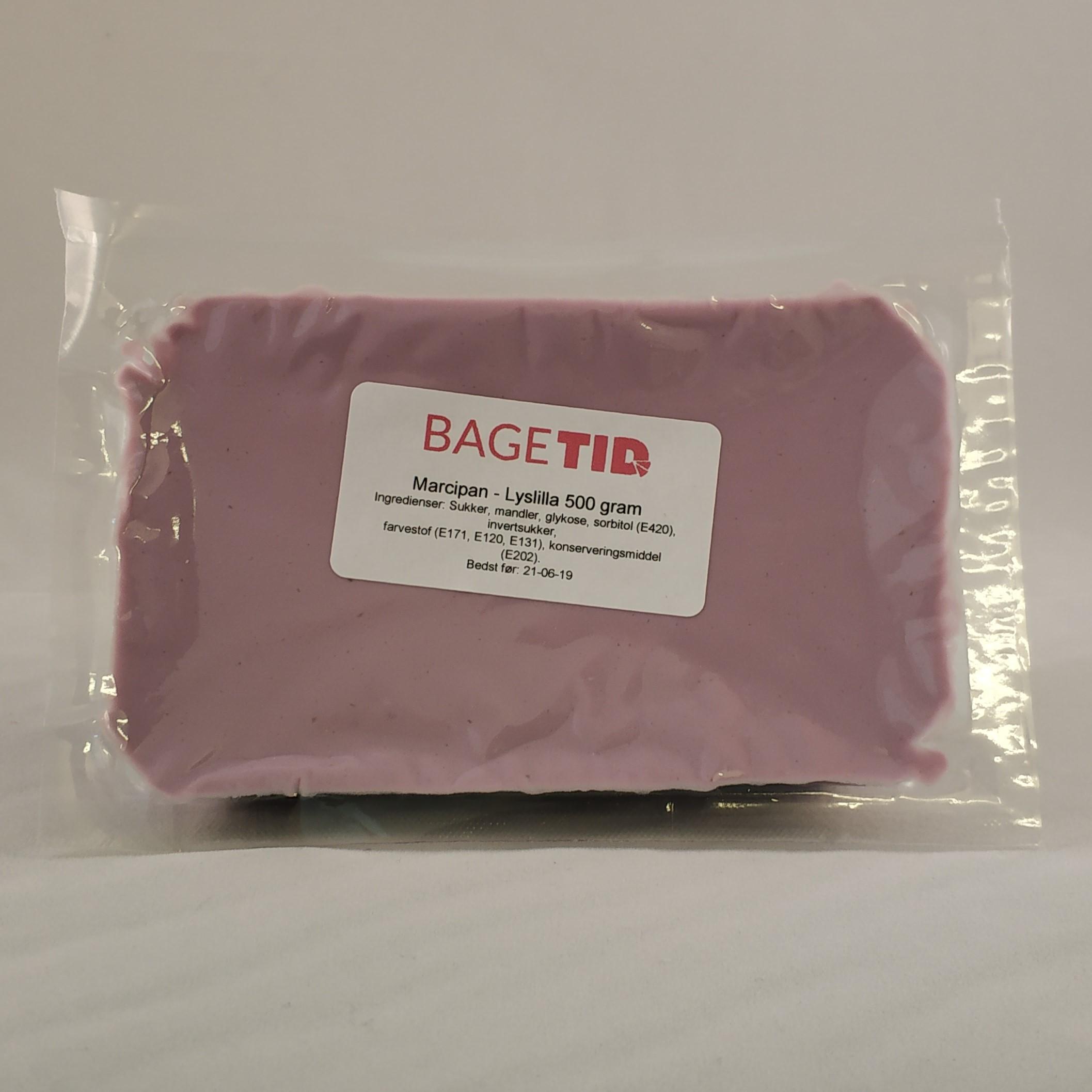 Image of   Bagetid marcipan lyslilla 500 gr.