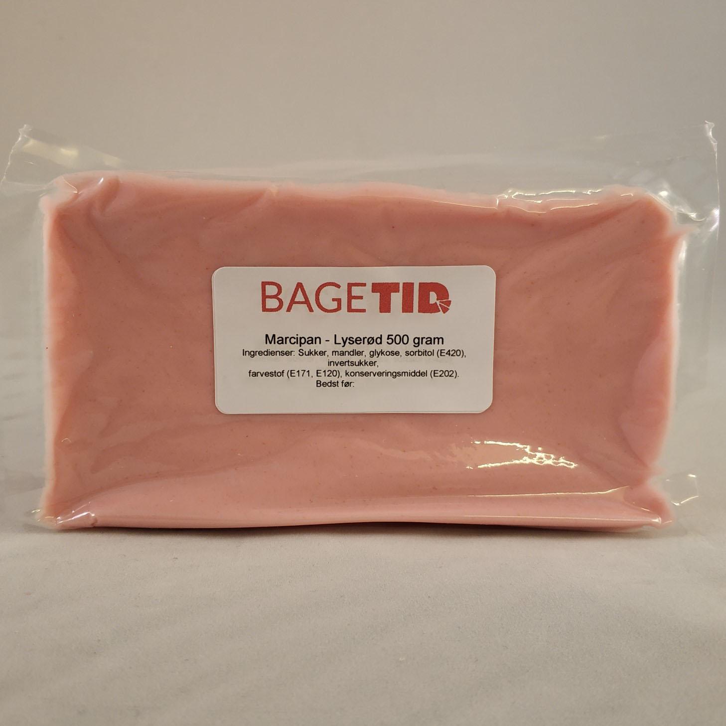 Image of   Bagetid marcipan lyserød 500 gr