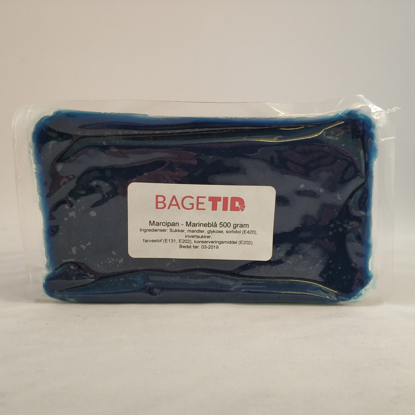 Image of   Bagetid marcipan marine-blå 500 gr.