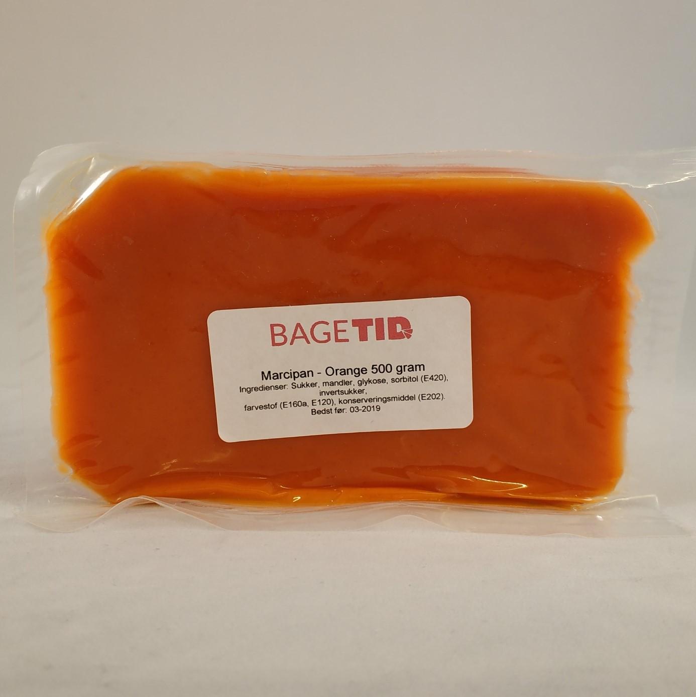 Image of   Bagetid marcipan orange 500 gr.