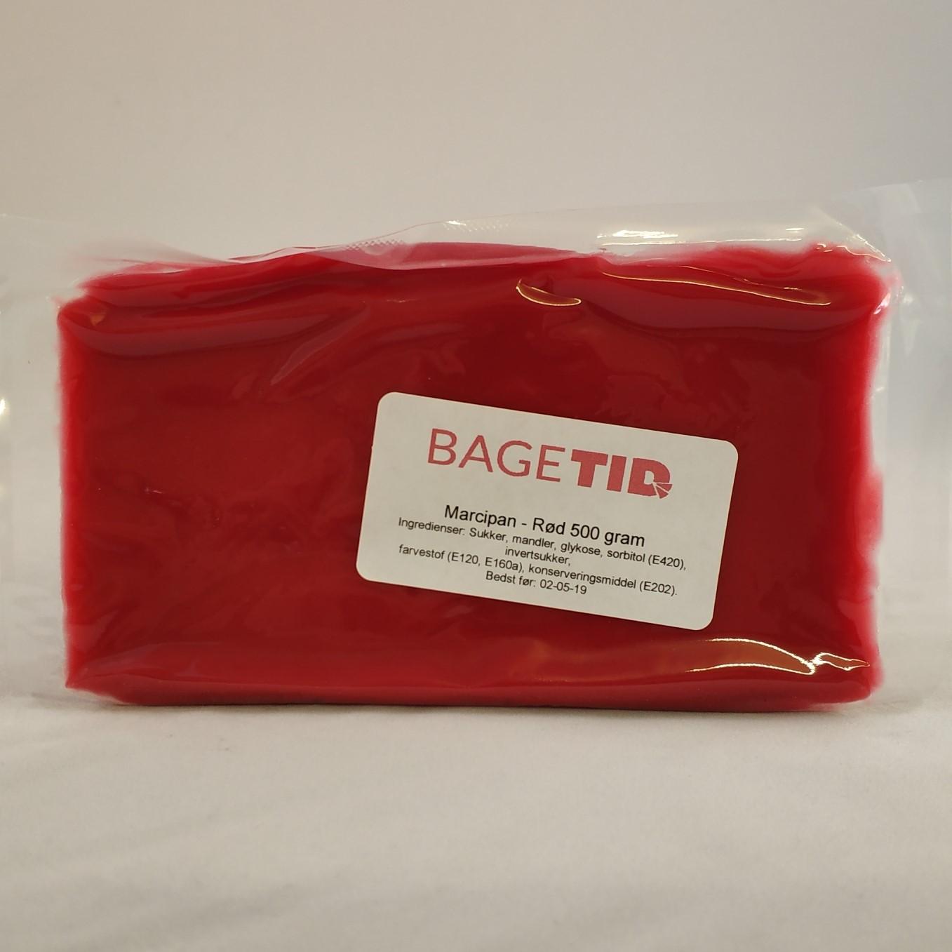 Image of   Bagetid marcipan rød 500 gr.